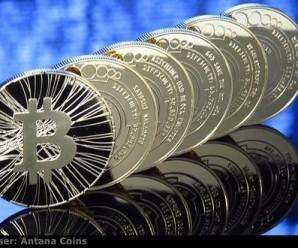 A physical representation of Bitcoin